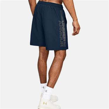 Under Armour Mens Graphic Wordmark Shorts - Navy