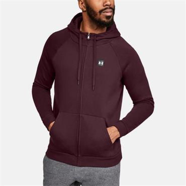 UNDER ARMOUR MENS RIVAL FLEECE HOODIE - BURGANDY