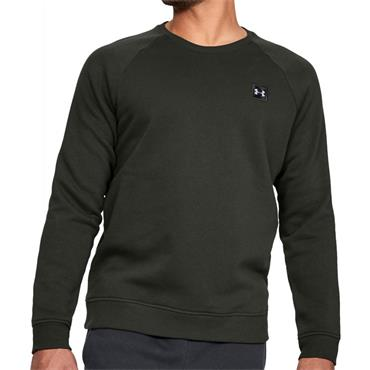 Under Armour Mens Rival Fleece Crew Sweater - Green