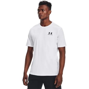 UNDER ARMOUR MENS SPORTSTYLE T-SHIRT - WHITE