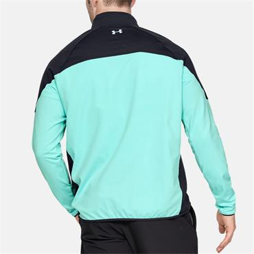 Under Armour Mens Storm Playoff Half Zip - Green/Black