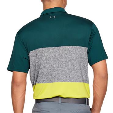 Under Armour Mens Playoff Polo Shirt - Green/Grey