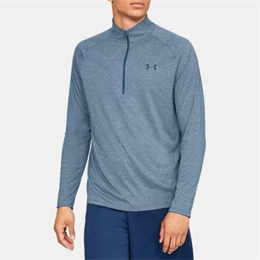 Under Armour Mens Tech 2.0 Half Zip - Blue
