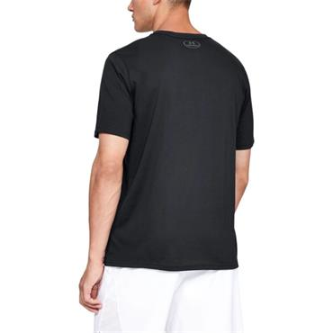 Under Armour Mens Wordmark T-Shirt - BLACK