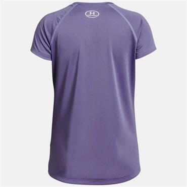 Under Armour Girls Big Logo Solid T-Shirt - Purple