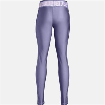 UNDER ARMOUR GIRLS HEAT GEAR LEGGINGS - PURPLE
