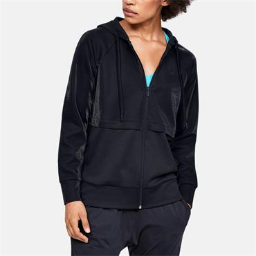 Under Armour Womens Fleece Migrate Full Zip Hoodie - BLACK