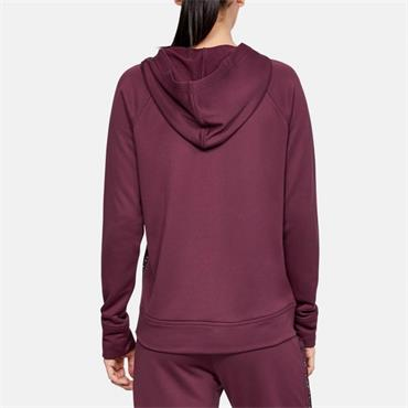 Under Armour Womens Tech Terry Full Zip Hoodie - Burgandy
