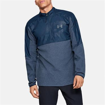 Under Armour Mens Gold Gear Half Zip - Navy