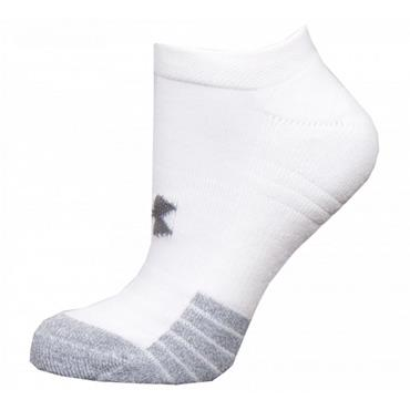 Under Armour Heat Gear No Show Socks - White