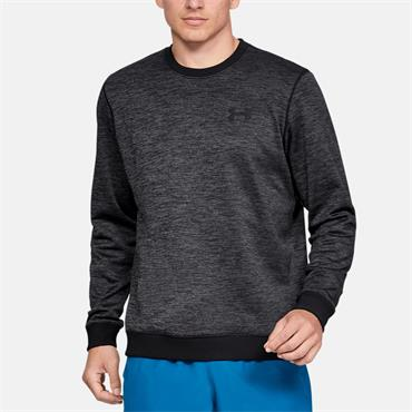 Under Armour Mens Fleece Crewneck Sweater - BLACK