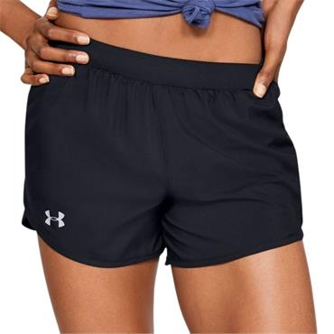 UNDER ARMOUR WOMENS FLY BY 2.0 SHORT - BLACK