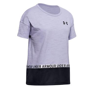Under Armour GIrls Charged Cotton T-Shirt - Purple
