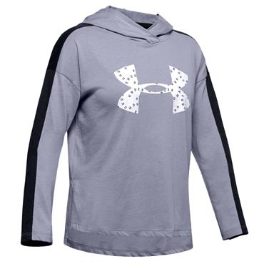 Under Armour Girls Favourites Jersey Hoodie - Purple