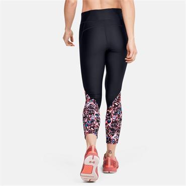 Under Armour Womens Printed Ankel Crop Leggings - BLACK
