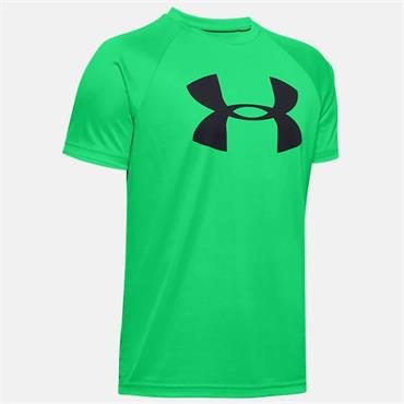 Under Armour Boys Tech Big Logo T-Shirt - Green