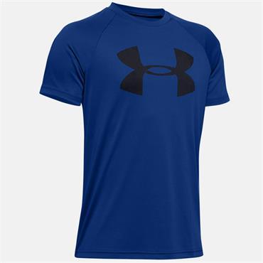 Under Armour Boys Tech Big Logo T-Shirt - Blue