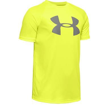 Under Armour Boys Tech Big Logo T-Shirt - Yellow