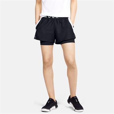 Under Armour Womens Play Up 2-In-1 Shorts - BLACK