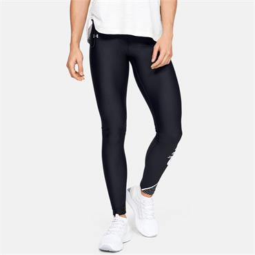 Under Armour Womens Graphic Swerve Leggings - BLACK
