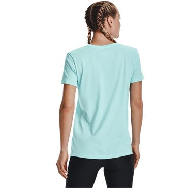 UNDER ARMOUR WOMENS LIVE SPORTSTYLE GRAPHIC T-SHIRT - BLUE