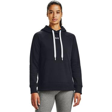 Under Armour Womens Rival Fleece Hoodie - BLACK