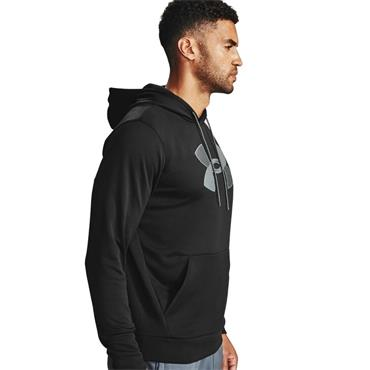 Under Armour Mens Fleece Big Logo Hoodie - BLACK