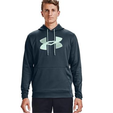 Under Armour Mens Fleece Big Logo Hoodie - BLUE