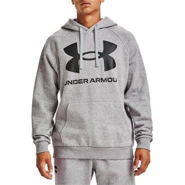 Under Armour Mens Rival Logo Fleece Hoodie - Grey