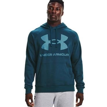 Under Armour Mens Rival Fleece Big Logo Hoodie - BLUE