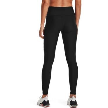 Under Armour Womens Heatgear Wordmark Leggings - BLACK