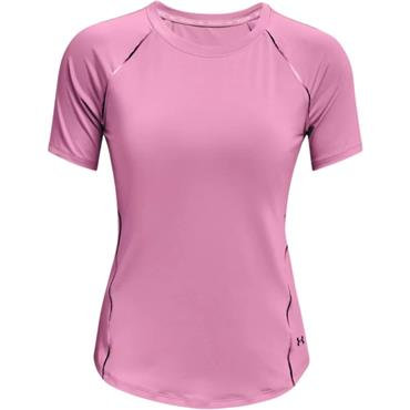 Under Armour Womens Rush Scallop T-Shirt - Pink