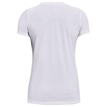 UNDER ARMOUR WOMENS TECH SOLID T-SHIRT - WHITE