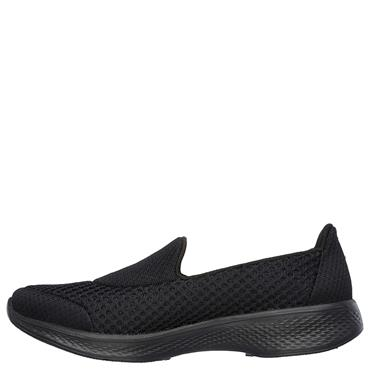 SKECHERS WOMENS GO WALK 4 KINDLE SLIP ON - BLACK