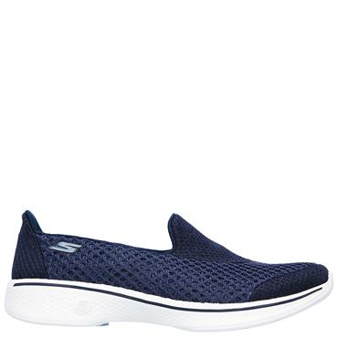 SKECHERS WOMENS GO WALK 4 KINDLE SLIP ON - NAVY