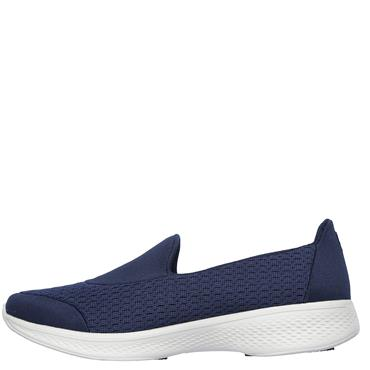 SKECHERS WOMEN GO WALK 4 PURSUIT SLIP ON - NAVY
