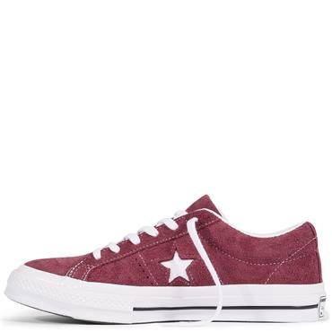 Converse Adults One Star Premier Suede Runners - Burgandy