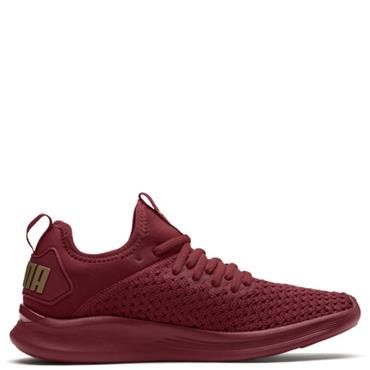 PUMA WOMENS IGNITE FLASH VARSITY TRAINER - MAROON