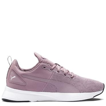 PUMA WOMENS FLYER RUNNER - PURPLE/WHITE