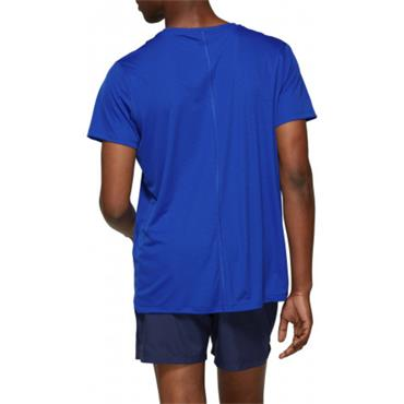 Asics Mens Silver SS Running T-Shirt - Blue