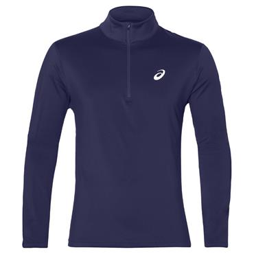 Asics Mens Long Sleeve Half Zip Winter Top - Navy