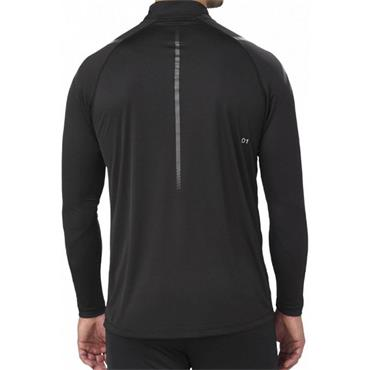ASICS MENS ICON LONG SLEEVE HALF ZIP TOP - BLACK
