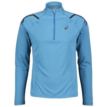 ASICS MENS LONG SLEEVE HALF ZIP TOP - BLUE