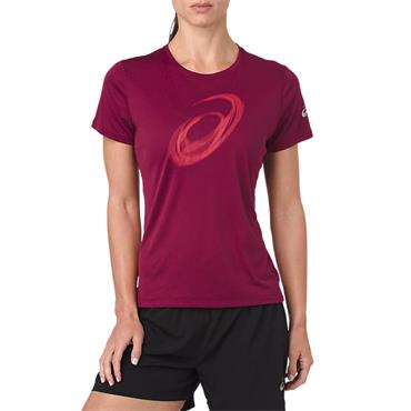 ASICS WOMENS SILVER TSHIRT - RED