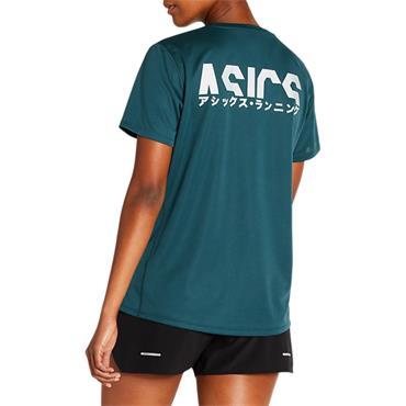 Asics Womens Katakana SS Running Top - BLUE