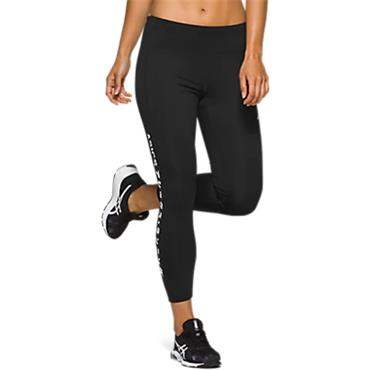 Asics Womens Katakana Cropped Tights - BLACK