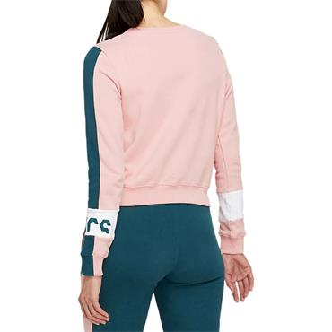 Asics Womens Colourblock Crew Jumper - Pink