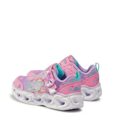 Skechers Infant Heart Lights Runners - Pink
