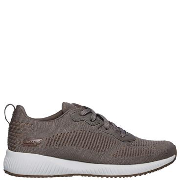 Skechers Womens Bobs Squad Glam League Trainers - Beige