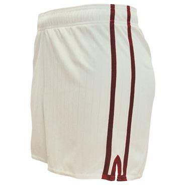 LEE SPORTS PAIRC SHORTS - WHITE/MAROON